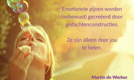 Emotionele pijnen worden gecreëerd via gedachten